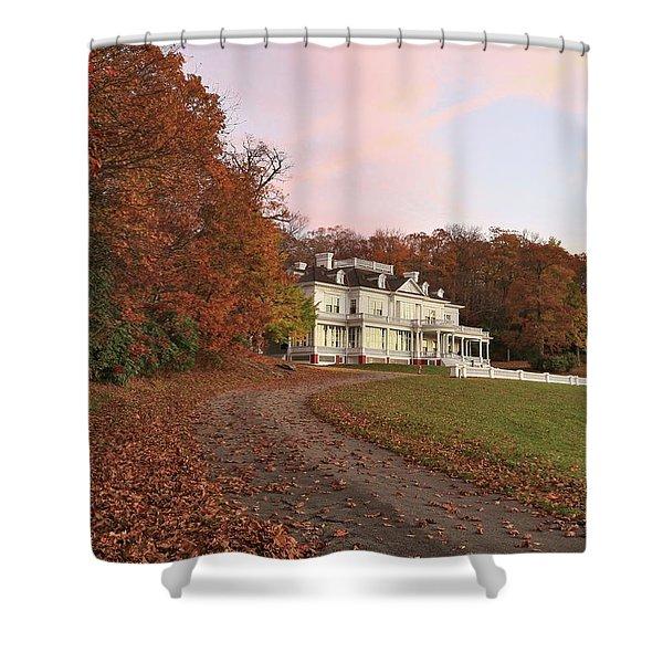 Flat Top Manor At Sunrise Shower Curtain