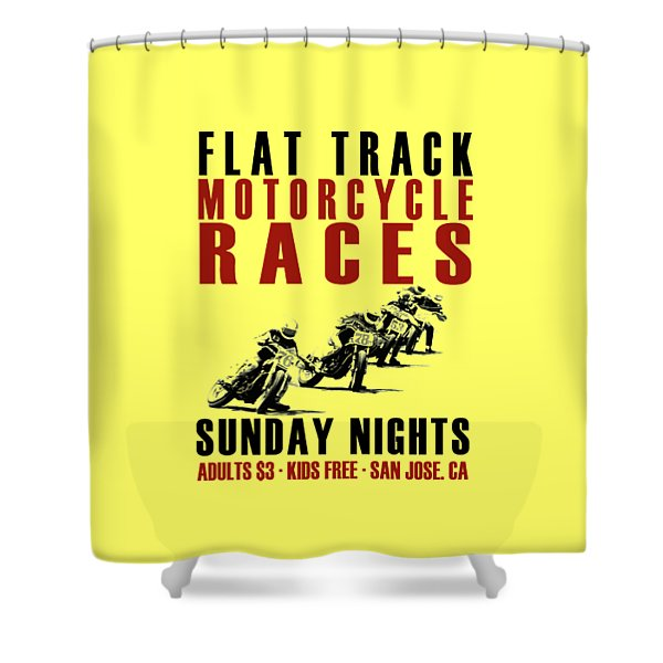 Flat Track Motorcycle Races Shower Curtain