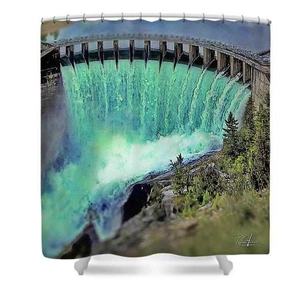 Flathead Lake Kerr Dam Shower Curtain