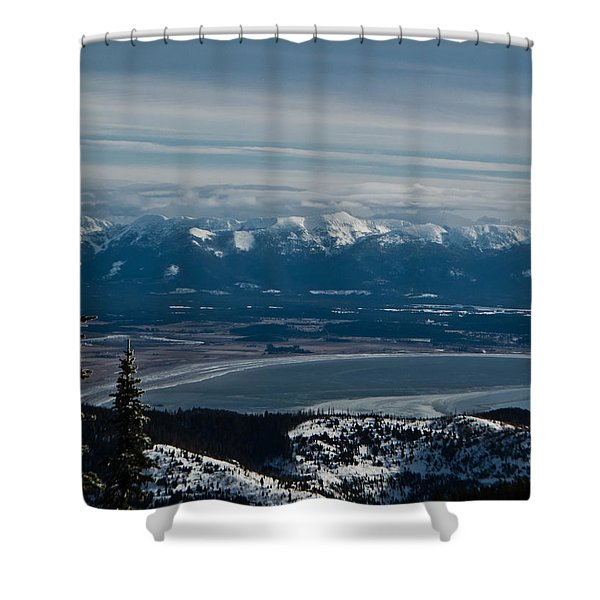 Flathead Valley In The Winter Shower Curtain