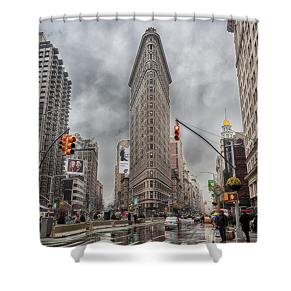 Flatiron Loveliness Shower Curtain