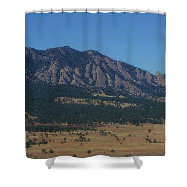 Flatirons Of Boulder Shower Curtain