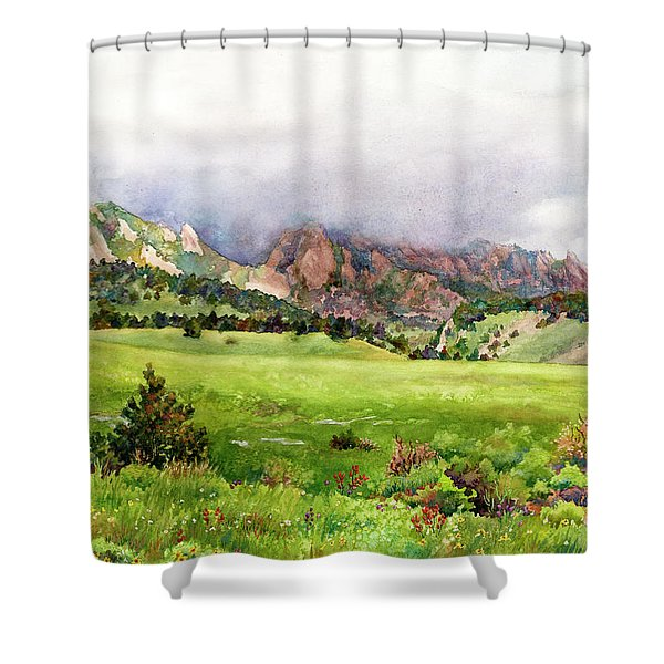 Flatirons Vista Shower Curtain