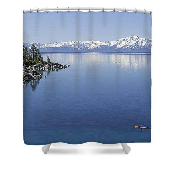 Flatwater Kayak Shower Curtain