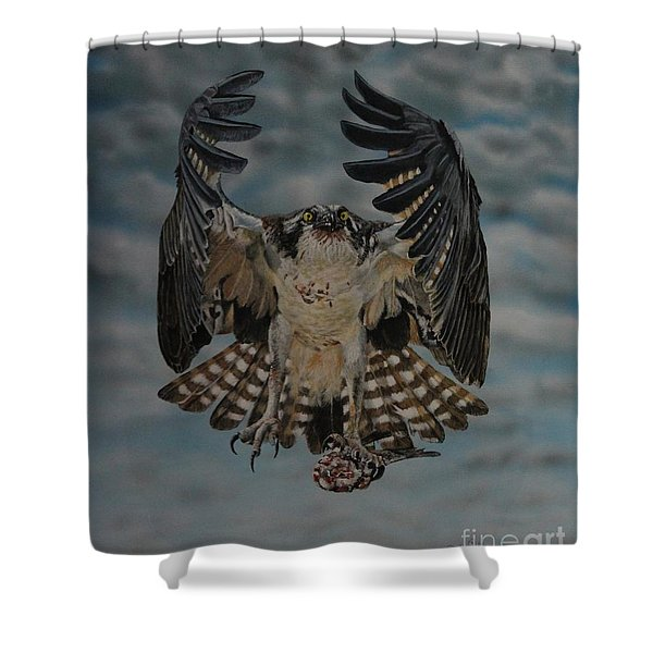 Fleck The Osprey  Shower Curtain