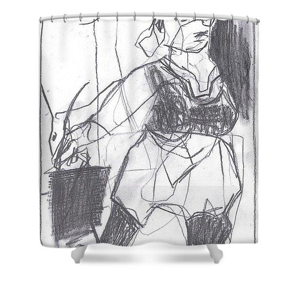 Fleeing Writer Shower Curtain