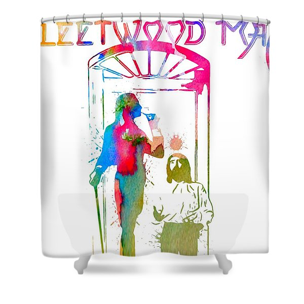 Fleetwood Mac Album Cover Watercolor Shower Curtain