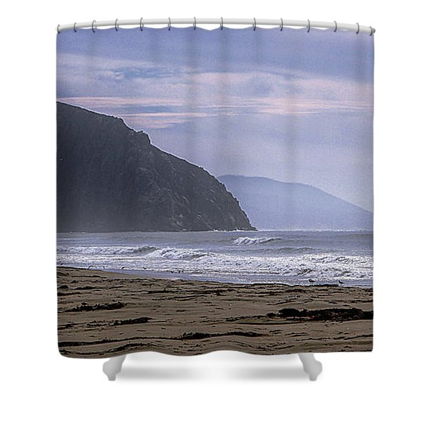 Flight From Morro Bay Shower Curtain