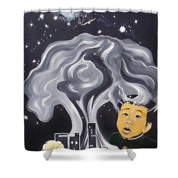Flying Lamb Productions                Flight Of Hope Shower Curtain