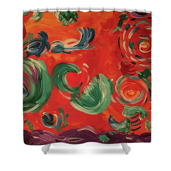 Flight Of Lotus Shower Curtain