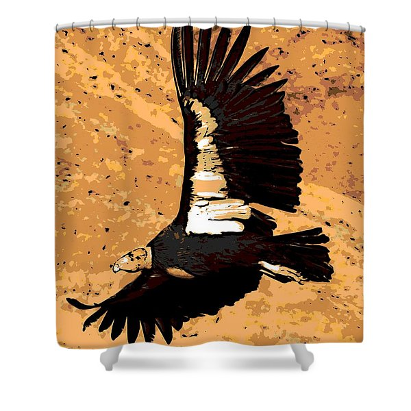 Flight Of The Condor Shower Curtain by George Pedro