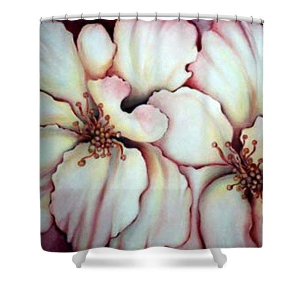 Flighty Floral Shower Curtain