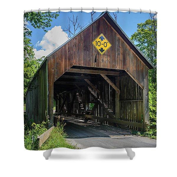 Flint Bridge Shower Curtain