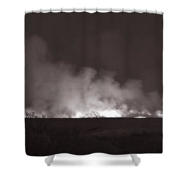 Flint Hills Fire In Monochrome Shower Curtain