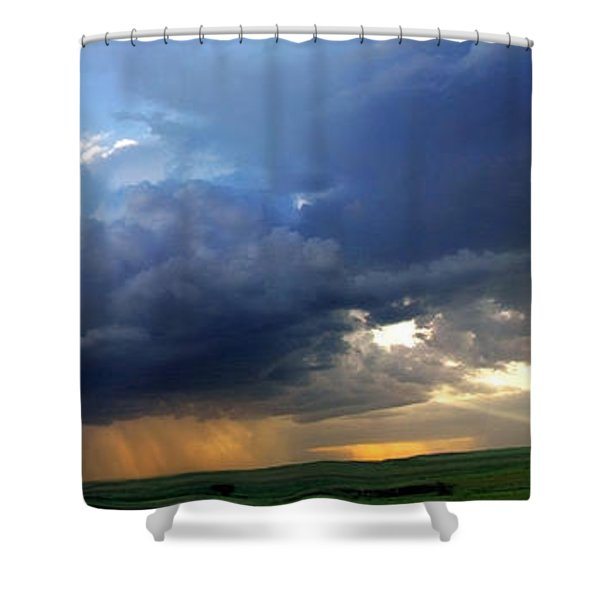 Flint Hills Storm Panorama 2 Shower Curtain