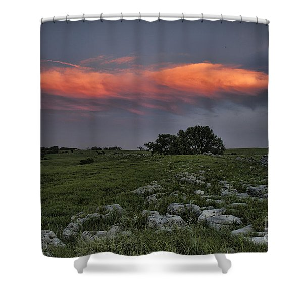 Flinthills Sunset Shower Curtain