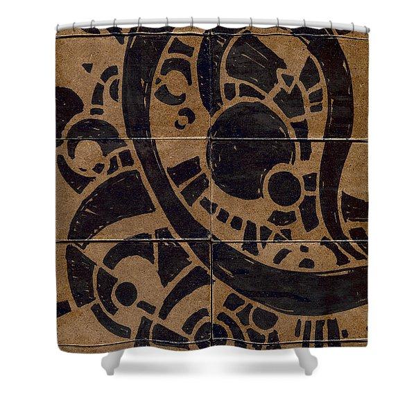 Flipside 1 Panel A Shower Curtain