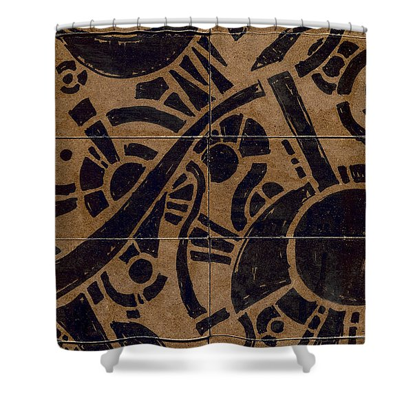 Flipside 1 Panel B Shower Curtain