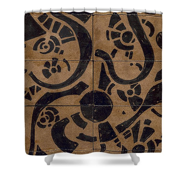Flipside 1 Panel D Shower Curtain