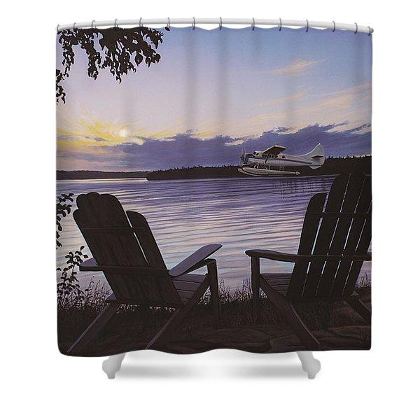 Float Plane Shower Curtain