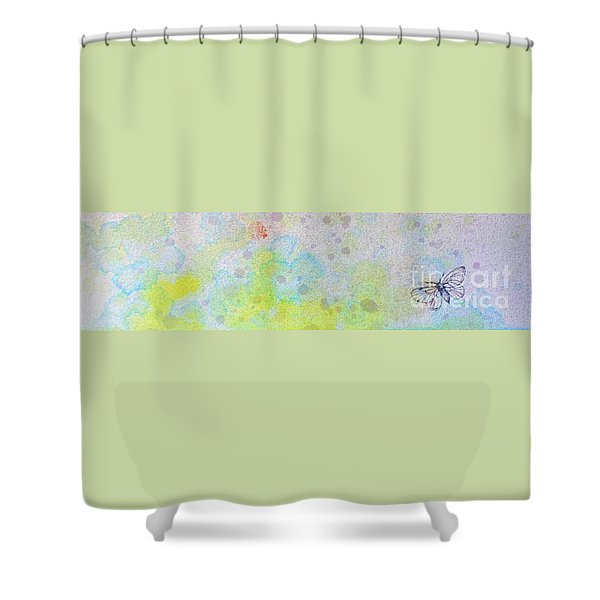Floating 12030008fy Shower Curtain