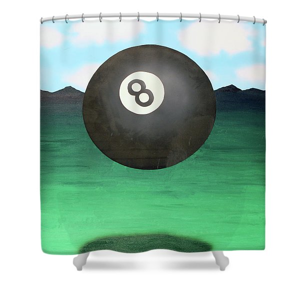 Floating 8 Shower Curtain