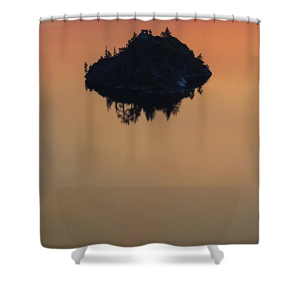 Floating Castle Shower Curtain