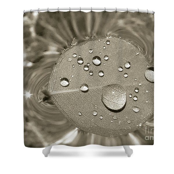 Floating Droplets Shower Curtain