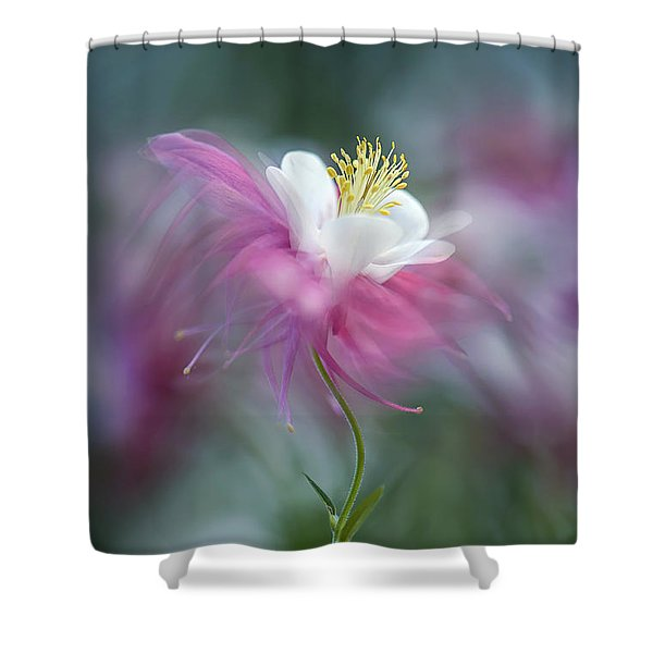 Floating Floral Shower Curtain