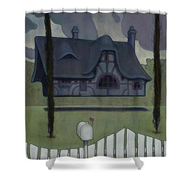 Floating House Shower Curtain