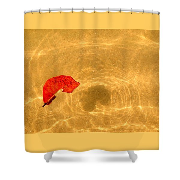 Floating In Gold Shower Curtain