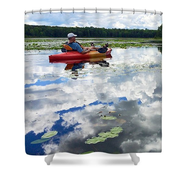 Floating In The Sky Shower Curtain