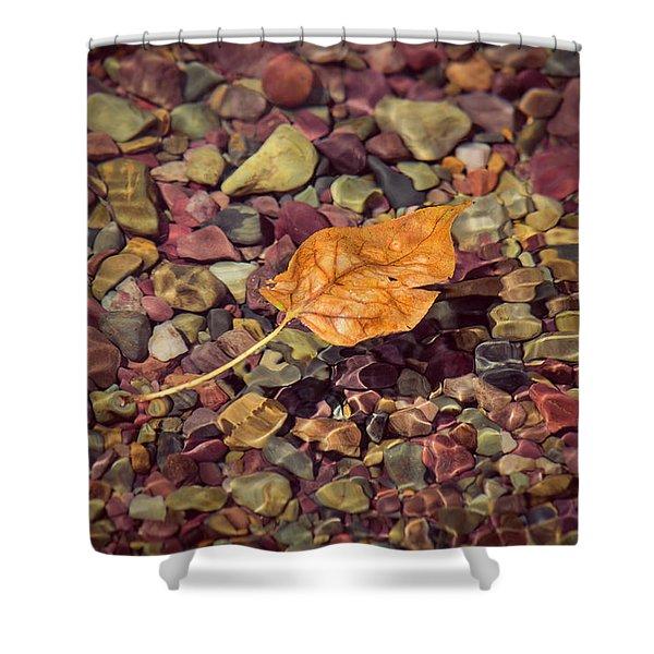 Floating Leaf Shower Curtain