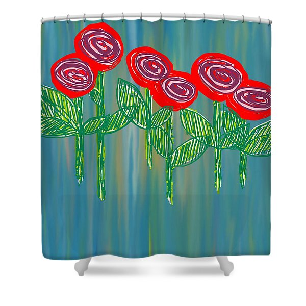 Floating Roses Shower Curtain
