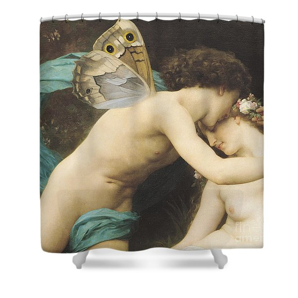 Flora And Zephyr Shower Curtain