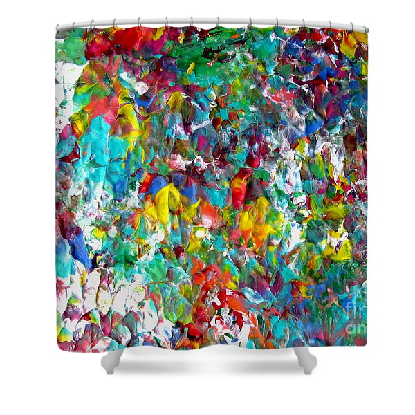Floral Abstract 0715 Shower Curtain
