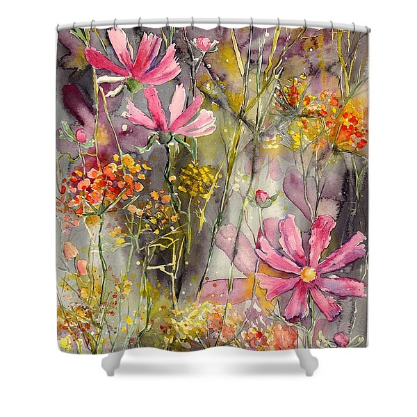 Floral Cosmos Shower Curtain