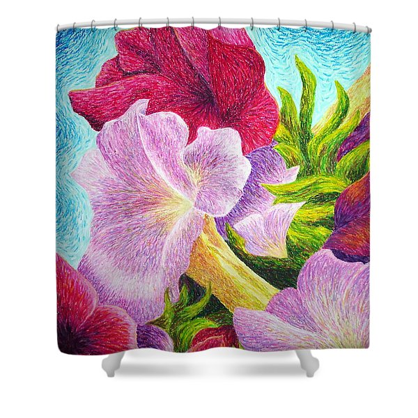 Floral In Pinks Shower Curtain