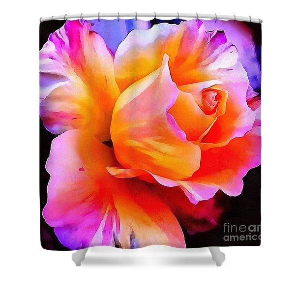 Floral Interior Design Thick Paint Shower Curtain