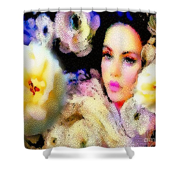 Floral Mosaic She In Thick Paint Shower Curtain