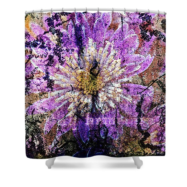 Shower Curtain featuring the digital art Floral Poetry Of Time by Silva Wischeropp