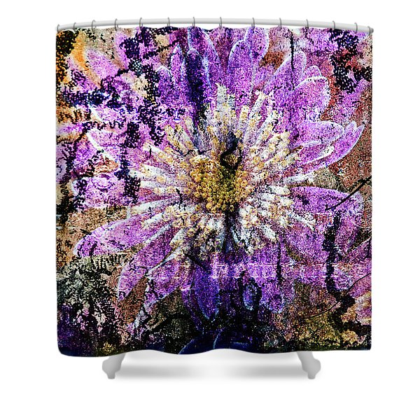 Floral Poetry Of Time Shower Curtain