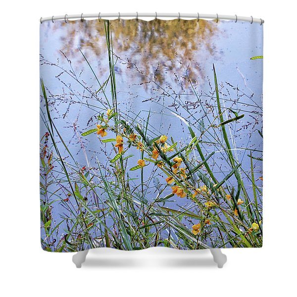 Floral Pond  Shower Curtain