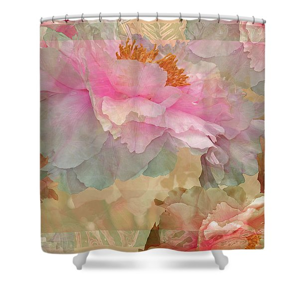 Floral Potpourri With Peonies 10 Shower Curtain