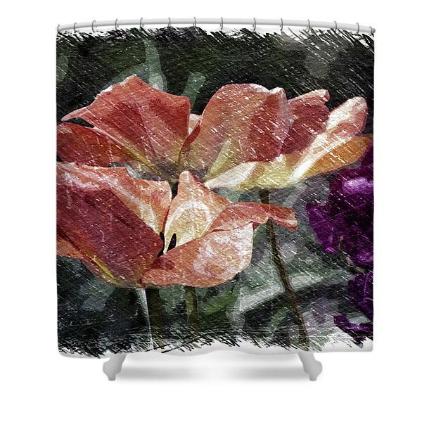 Floral Spring Tulips 2017 Pa 02 Shower Curtain