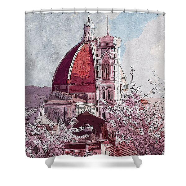 Florence - 16 Shower Curtain