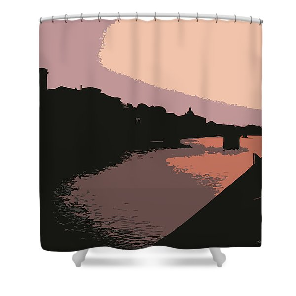 Florence At Night Shower Curtain