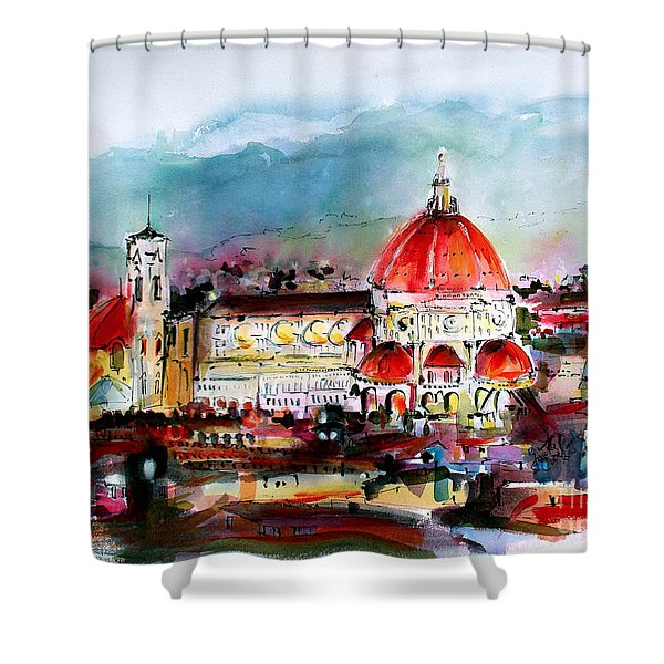 Florence Cathedral Of Saint Mary Of The Flower Shower Curtain