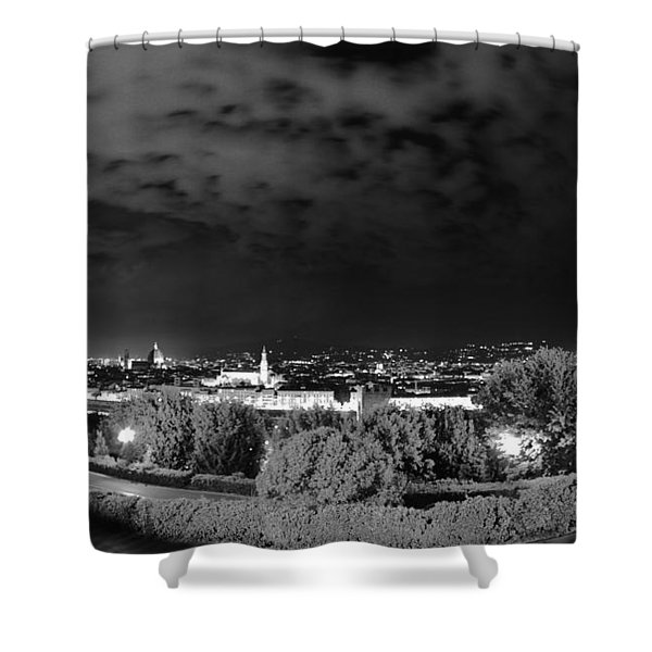 Florence From Above Shower Curtain