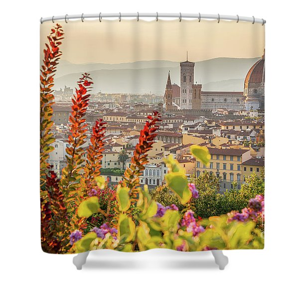 Florence In Summer Shower Curtain